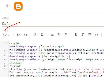 mode html blogger