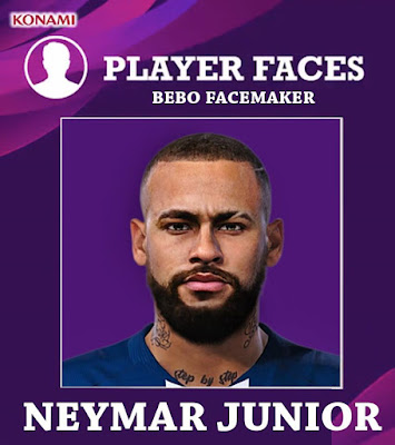 PES 2020 Neymar Face by Bebo Facemaker