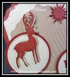 Close-up van een bruin hert/rendier. Close-up of a brown deer/reindeer.