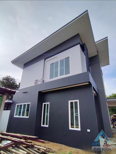 บ้านทาสีโทนสีเทา