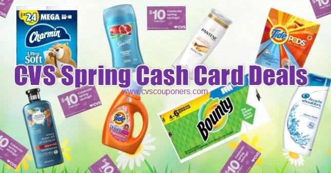 Best CVS Spring Cash Card Deals