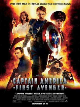 Poster Of Free Download Captain America: The First Avenger 2011 300MB Full Movie Hindi Dubbed 720P Bluray HD HEVC Small Size Pc Movie Only At worldfree4u.com