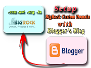 How to  Setup BigRock Custom Domain with Blogger | Simple Solution