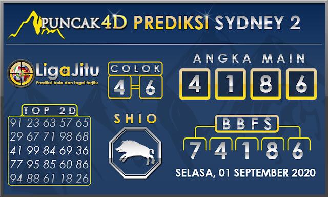 PREDIKSI TOGEL SYDNEY2 PUNCAK4D 01 SEPTEMBER 2020