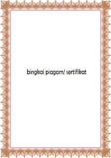 Download Bingkai Sertifikat Modern Emas Cdr