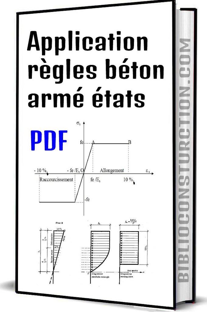 Application règles béton armé états limites pdf