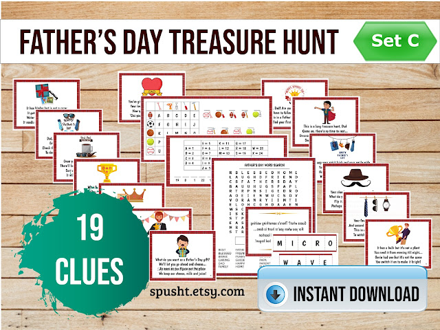 dads day scavenger hunt clues