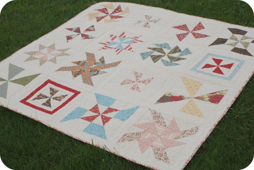Pinwheel Sampler Quilt Along. Patchwork Tutorial