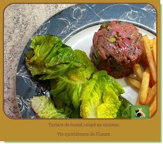 Vie quotidienne de FLaure : Tartare de bœuf, coupé au couteau, relevé