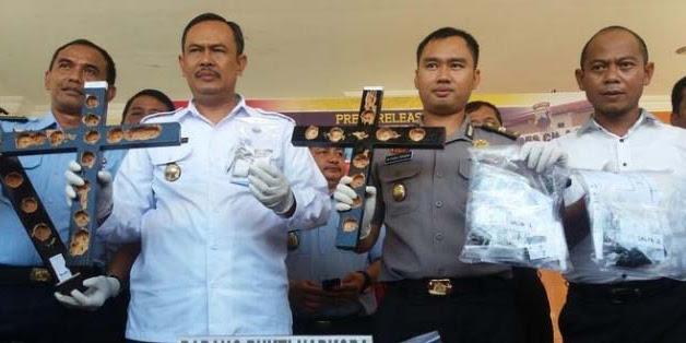 Aparat Amankan Narkoba dalam salib di Nusakambangan total 69 paket