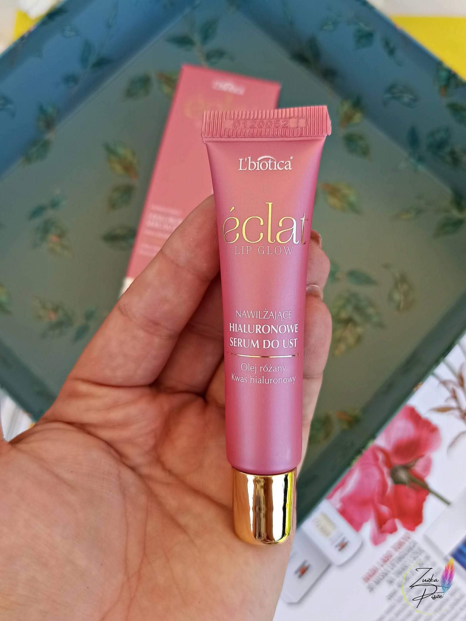 L'Biotica ECLAT Lip Glow - nawilżające serum do ust z olejem różanym