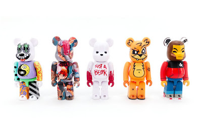 Designer Con 2019 Exclusive Be@rbrick Artist Series 100% Vinyl Figure Box Set by MEDICOM TOY featuring Steven Harrington, Tristan Eaton, Joe Ledbetter, Luke Chueh and kaNO