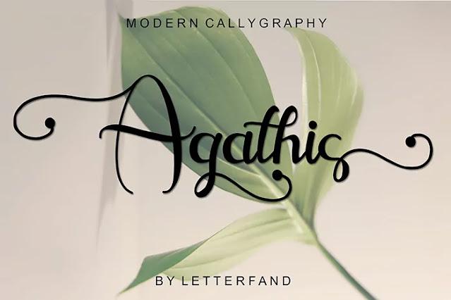 calligraphy font alphabet