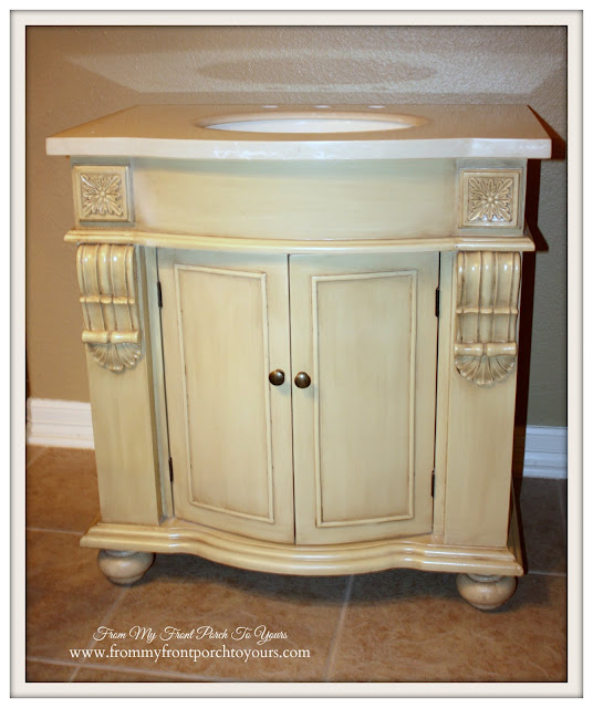 Farmhouse Guest Bathroom-Kirklands Vanity- From My Front Porch To Yours