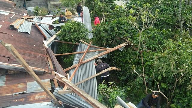 Angin Puting Beliung Kembali Terjang Tiga Rumah Di Bener Meriah