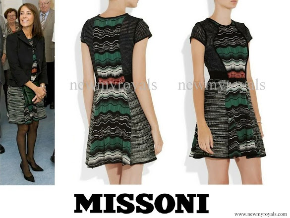 Princess Marie wore Missoni Crochetknit Dress