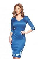 Rochie StarShinerS Brodata Mystic Line Charm Blue (StarShinerS)