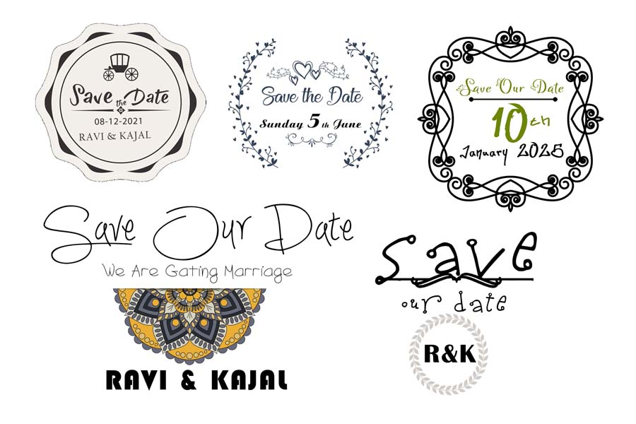 Save The Date PSD
