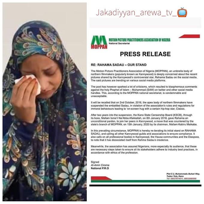 NEWS : MOPPAN DISMISSED RAHAMA SADAU