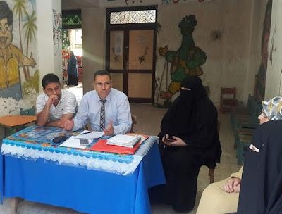 مدير إدارة الجودة يزور مدرسة ميت الديبة