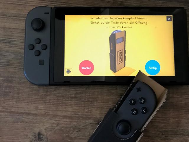 Nintendo Labo VR-Set Joy Con-Halter fertig