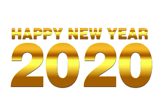 happy new year 2020 text png free