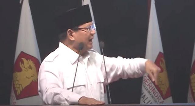 Saatnya Prabowo secara Langsung Nyatakan Sikap