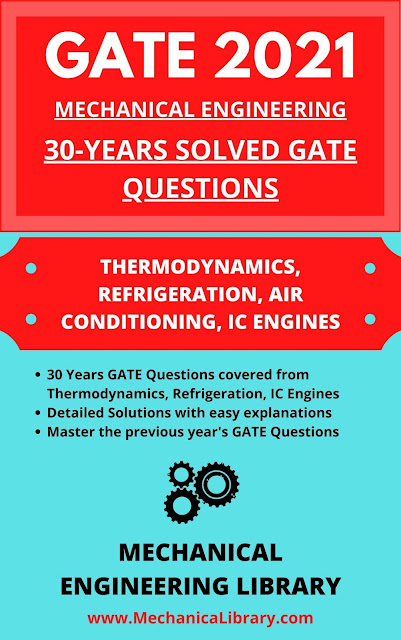 THERMODYNAMICS (INCLUDING REFRIGERATION, IC ENGINES) - PREVIOUS 30 YEARS GATE QUESTIONS AND SOLUTIONS - GATE 2021 MECHANICAL ENGINEERING - FREE DOWNLOAD PDF - MECHANICALIBRARY.COM EXCLUSIVE