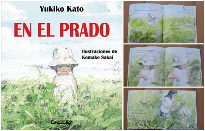 cuento infantil EN el prado Yukiko Kato, primavera. Portado e interior