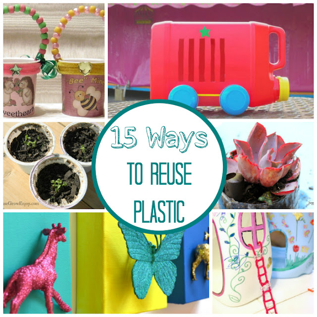 15 Ways to Reuse Plastic (bottles, bags, cups, and more)