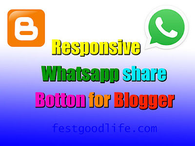 responsive whatsapp share botton for blogger