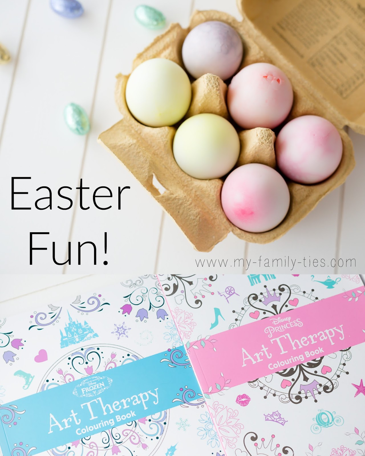 Easter-Fun-with-My-Family-Ties-Blog-Featuring-Art-Therapy-Books-From-Parragon-Books-And-Easter-Egg-Dying-With-Chicken-And-Duck-Eggs-