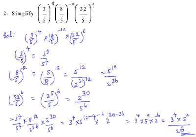 Simplify the following Exemplar solution