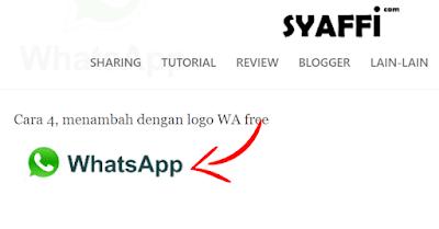 Kode HTML Whatsapp
