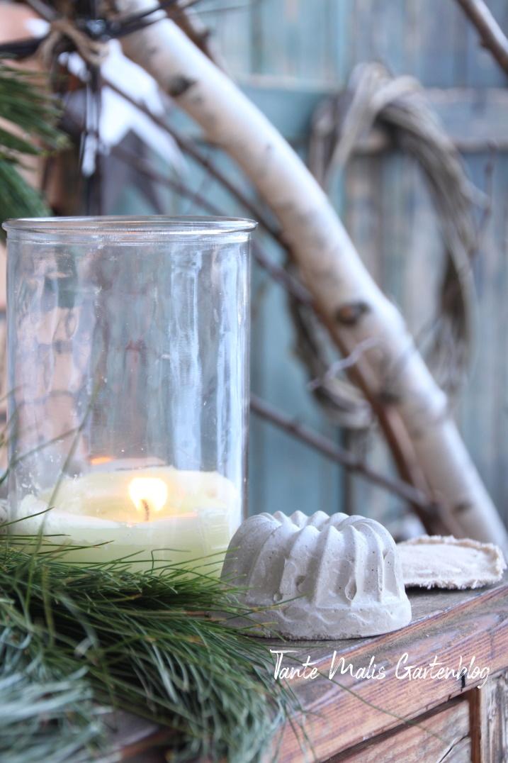 Januardekoration Garten
