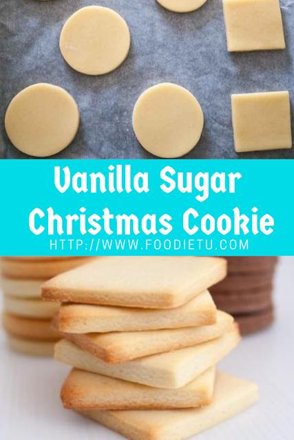 Vanilla Sugar  Christmas Cookie