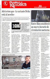EDICIÓN IMPRESA DE RETÓRICA DEL 10-9-2021
