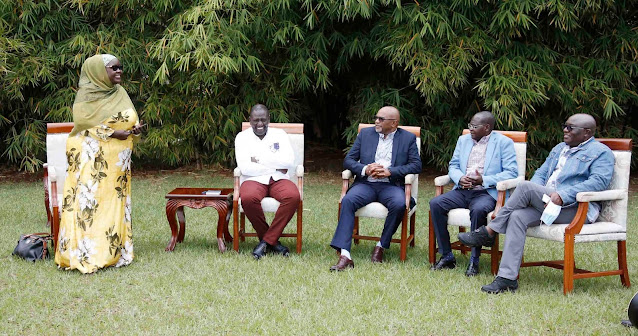 Deputy President William Ruto with sote pamoja youths photo