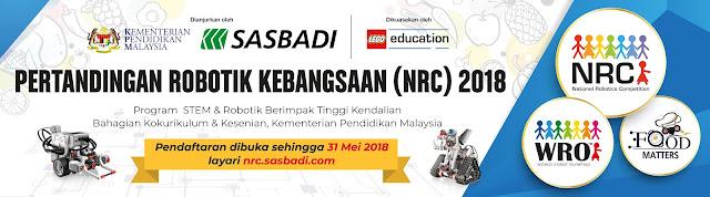 Pertandingan Robotik Kebangsaan, nrc, program stem, wro, food matters, kementerian pendidikan malaysia, lego education, sasbadi
