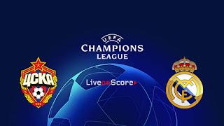 مشاهدة لعبة ريال مدريد ضد سيسكا موسكو بث مباشر اليوم دوري أبطال اوروبا