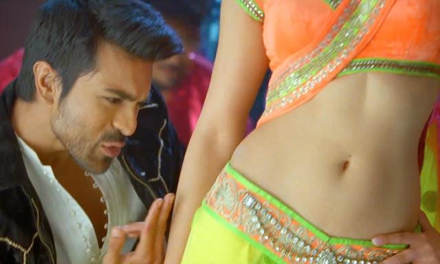 Ram charan enjoying Shruti hassan Navel Images
