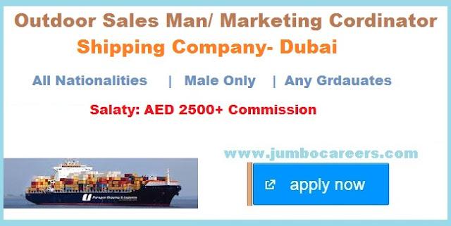Sipping and freight forwarding company jobs in Dubai, Dubai port marketing jobs salry 2018