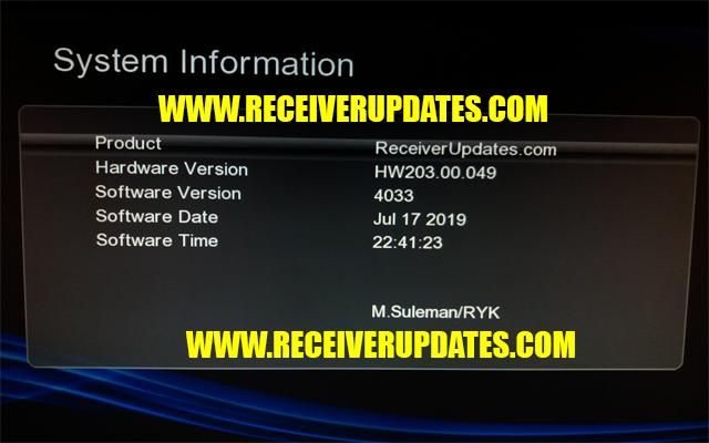 GX6605S HW203 00 049 HD RECEIVER NEW SOFTWARE TEN SPORTS