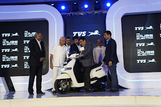 """TVS Motor Company forays into electric mobility with connected and advanced technology scooter """"TVS iQubeElectric"""""""