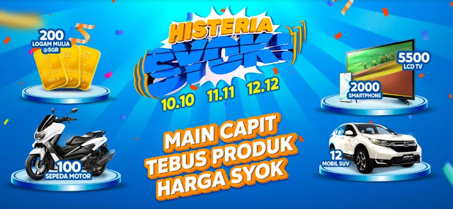 Promo Syok Blibli.com 10-10, 11-11 dan 12-12 Harbolnas 2019