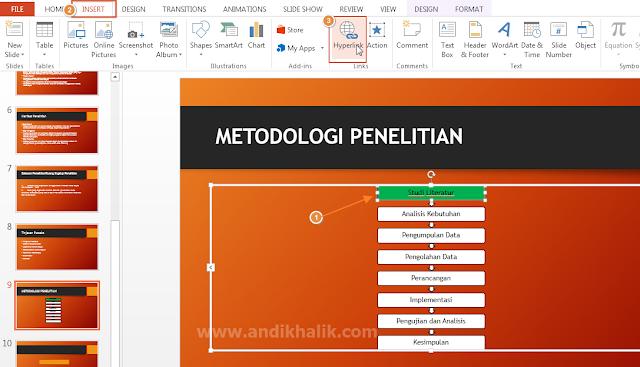 Memasukkan Hyperlink (Tautan) di PowerPoint