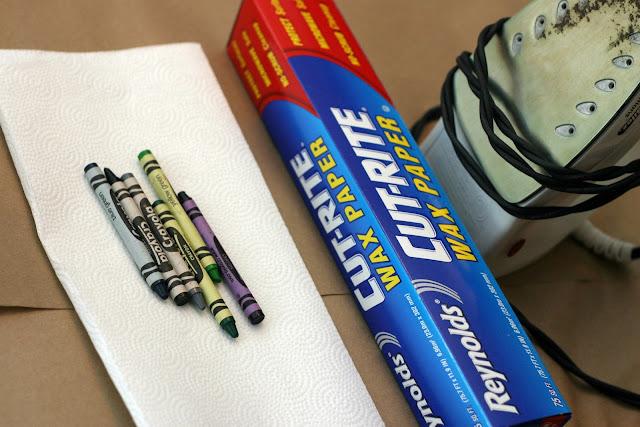 Kids Craft - Halloween Crayon Bats 1
