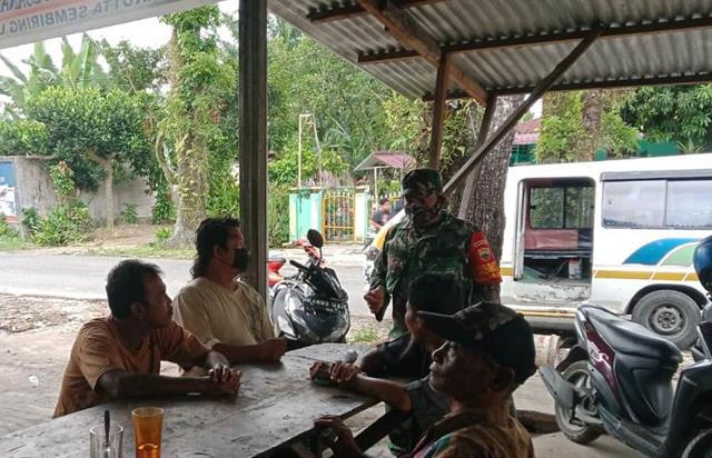 Penegakan Disiplin Protokol Kesehatan Dilaksanakan Personel Jajaran Kodim 0207/Simalungun Diwilayah Binaan