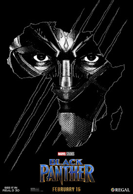 Marvel's Black Panther Regal Real D 3D Theatrical One Sheet Movie Poster