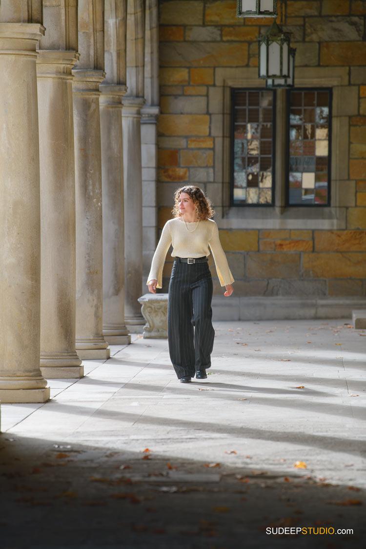 Ann Arbor Senior Pictures for Girls Univ of Michigan Campus Law Quad by SudeepStudio.com Ann Arbor Senior Pictures Photographer
